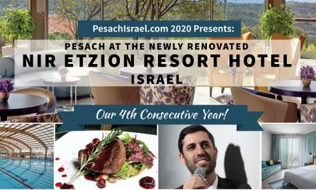 Passover 2020 at Nir Etzion Resort with PesachIsrael.com