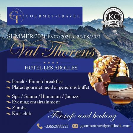 Kosher Summer Vacation 2021 in France
