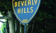 The iconic Beverly Hills Sign