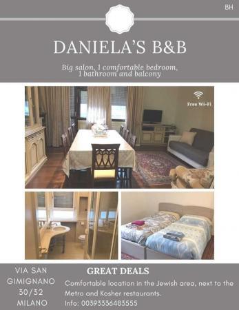 Daniela's Kosher B&B Apartment Rental, Milan, Italy